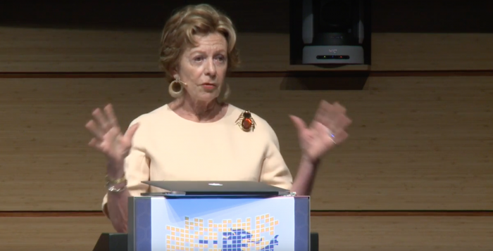 Blockchain peptalk keynote by Neelie Kroes